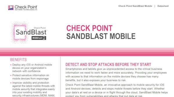 SandBlast Mobile